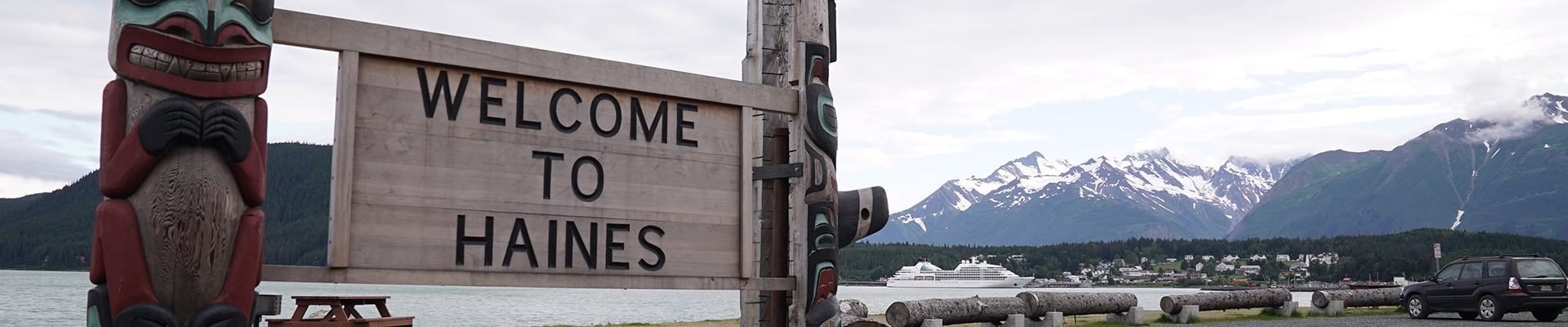 Welcome sign to Haines